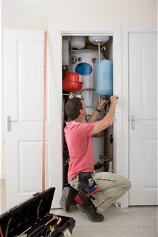 servicing-heating-boiler